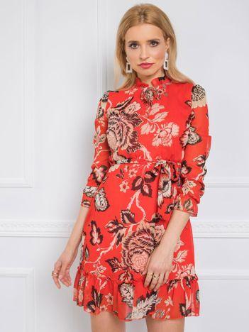 Czerwona sukienka Harriet RUE PARIS