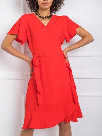 Czerwona sukienka Kaily RUE PARIS