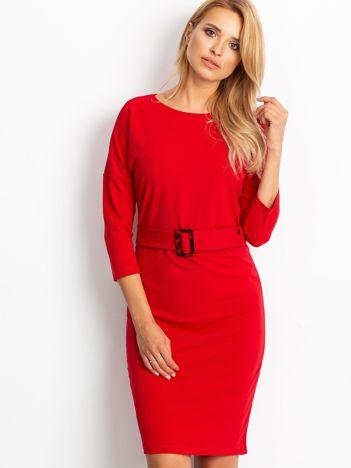 Czerwona sukienka Reflect