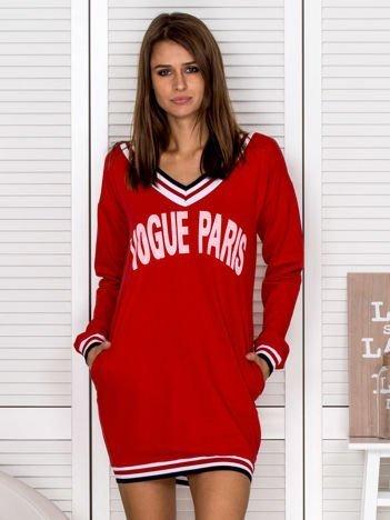 Czerwona sukienka VOGUE PARIS