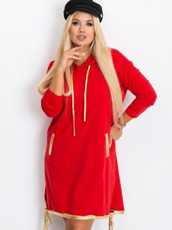 Czerwona sukienka plus size Rock
