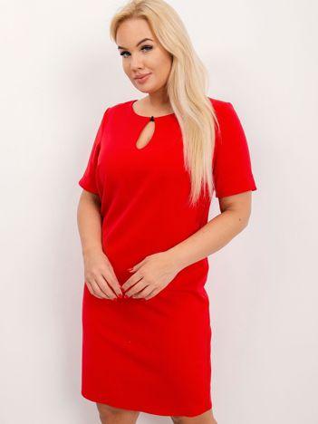 Czerwona sukienka plus size Together