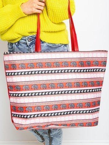Czerwona torba shopper