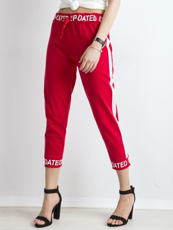 9c2bc8587a4e Czerwone dresowe spodnie z napisami
