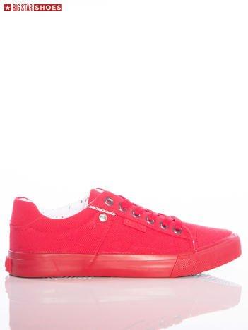 Czerwone jednolite trampki Big Star