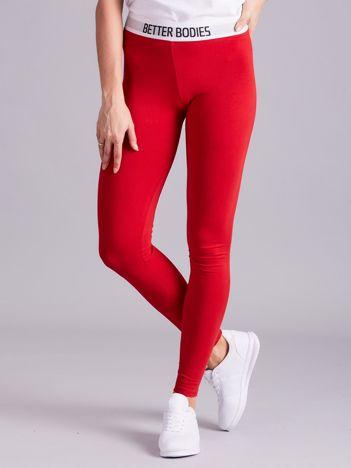 Czerwone legginsy damskie