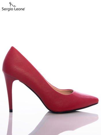 Czerwone matowe szpilki Sergio Leone