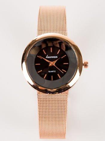 Czerwone złoto delikatny zegarek damski na bransolecie MESH