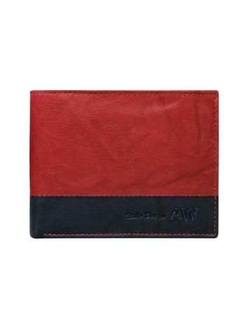 Czerwony portfel bez zapięcia