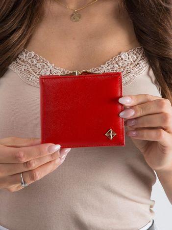 Czerwony portfel damski na bigiel