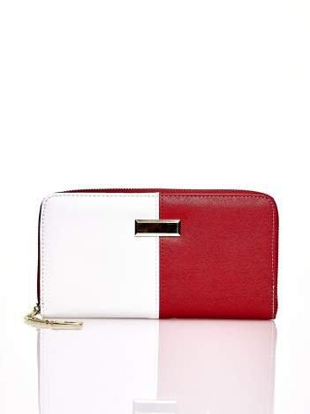 Czerwony portfel two tone z uchwytem