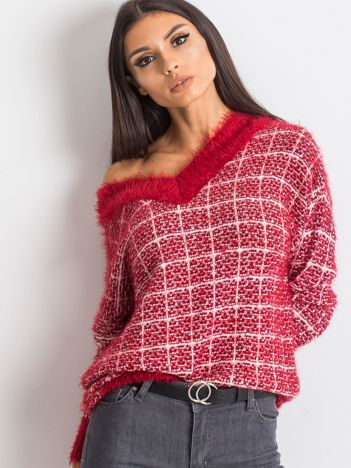 Czerwony sweter Happiness