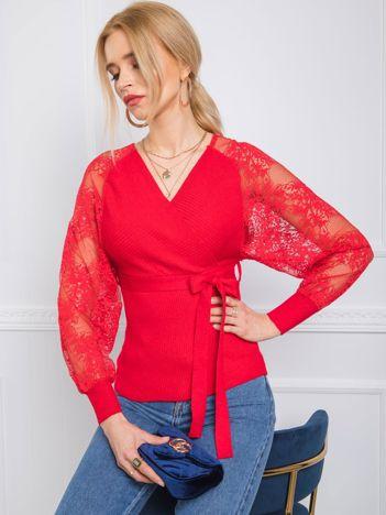 Czerwony sweter Journee