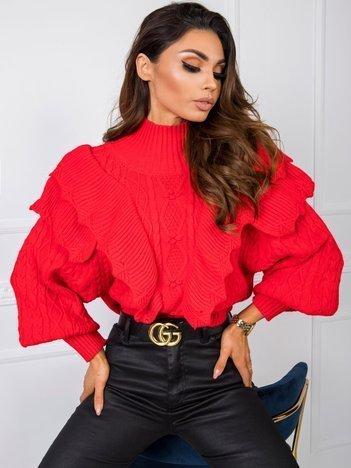 Czerwony sweter Rosie