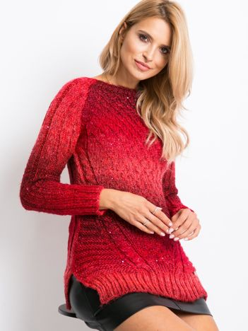 Czerwony sweter Verona