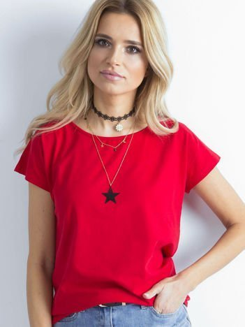 Czerwony t-shirt Circle
