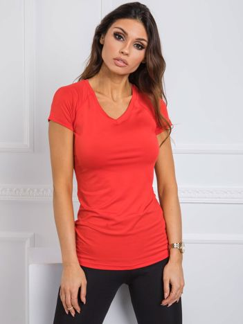 Czerwony t-shirt Harriet FOR FITNESS
