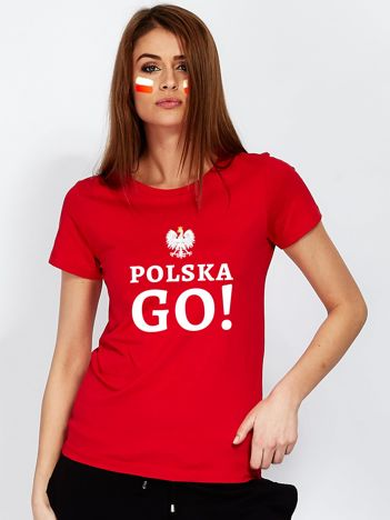 Czerwony t-shirt POLSKA GO!