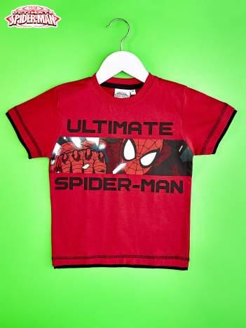Czerwony t-shirt chłopięcy SPIDERMAN
