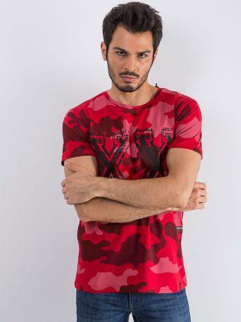 Czerwony t-shirt męski Moro