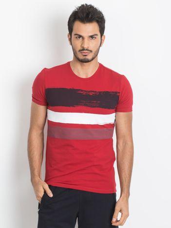 Czerwony t-shirt męski TOMMY LIFE