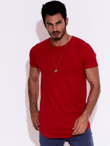 Czerwony t-shirt męski basic