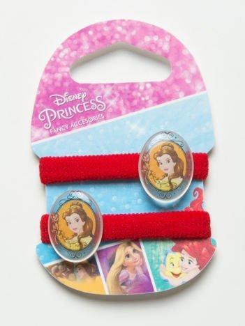 DISNEY PRINCESS Komplet 2 czerwonych gumek-frotek dla dziewczynki
