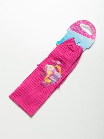 DISNEY PRINCESS Opaska do włosów z aplikacją Różowa w paski