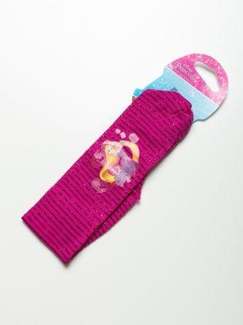 DISNEY PRINCESS Opaska do włosów z aplikacją Różowa z błyszczącymi paskami