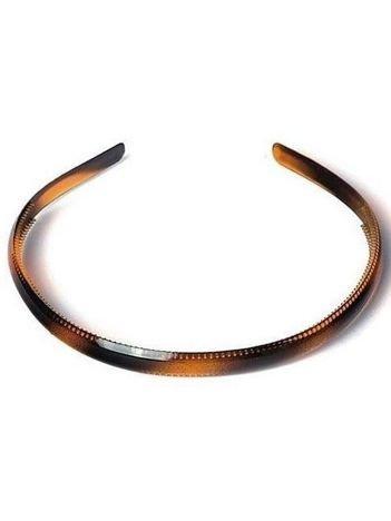 DONEGAL Opaska do włosów bursztynowa wąska (FA-9926)