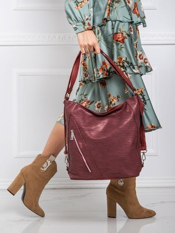 Damska torba bordowa