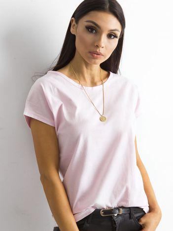 Damski t-shirt jasnoróżowy
