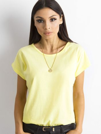 Damski t-shirt żółty