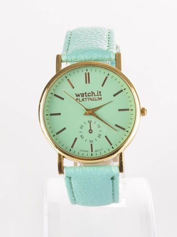 Damski zegarek miętowy