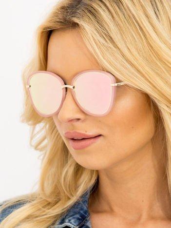 Damskie Okulary Słoneczne Różowe Lustrzanki