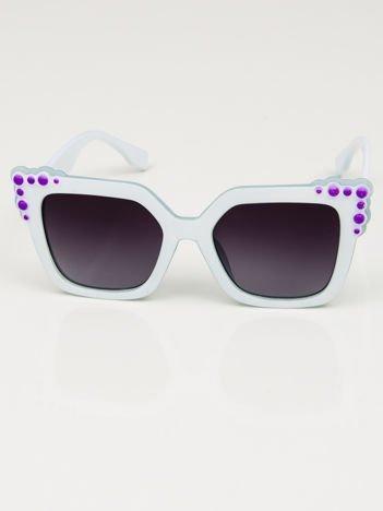 Damskie duże okulary słoneczne białe