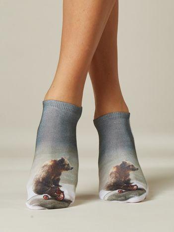 Damskie skarpetki z niedźwiedziem