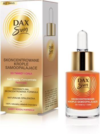 Dax Sun Skoncentrowane Krople samoopalające do twarzy i ciała 15 ml