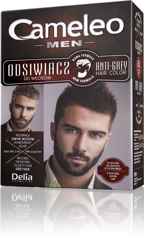 """Delia Cosmetics Cameleo Odsiwiacz dla mężczyzn do włosów naturalnych i brązowych  1op"""""""