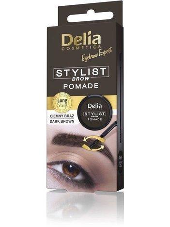 """Delia Cosmetics Eyebrow Expert Pomada do brwi Ciemny Brąz 1szt"""""""
