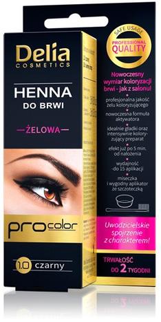 Delia Cosmetics Henna do brwi żelowa 1.0 czarna
