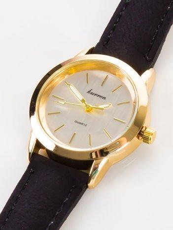 Delikatny czarny zegarek damski