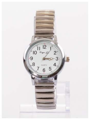 Delikatny damski zegarek na srebrnej elastycznej bransolecie