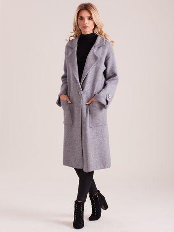 Długi szary sweter damski