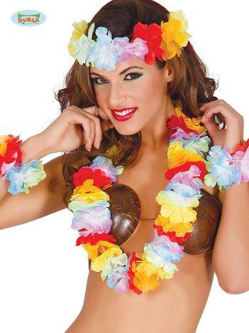 Długie kolorowe kwiaty hawajskie na imprezę