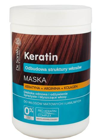 """Dr.Sante Keratin Hair Maska odbudowująca do włosów łamliwych i matowych  1000ml"""""""