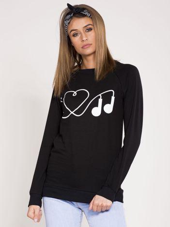 Dresowa bluza damska czarna