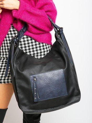 Duża czarna torba damska