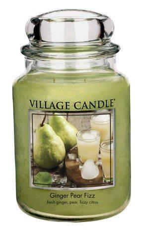 Duża świeca zapachowa Village Candle 645 gr - Ginger Pear Fizz