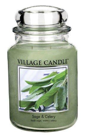 Duża świeca zapachowa Village Candle 645 gr - Sage & Celery
